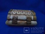 Шкатулка для украшений натуральная кость резьба Европа, фото №6