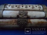 Шкатулка для украшений натуральная кость резьба Европа, фото №8