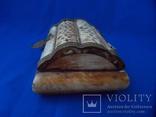Шкатулка для украшений натуральная кость резьба Европа, фото №9