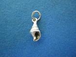Кулончик ракушка серебро., фото №2
