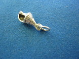Кулончик ракушка серебро., фото №3