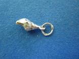 Кулончик ракушка серебро., фото №4