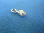 Кулончик ракушка серебро., фото №5