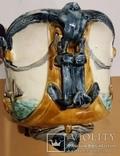 Жардіньєрка, майоліка, Франція, Н20,5х35,5х21 см, фото №5