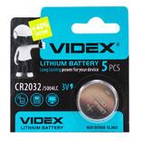 Батарейка литиевая Videx CR2032 3V, CR 2032/ L14/ SB-T51, blister 1штука, фото №2