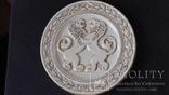 Памятная фарфоровая медаль ЧМ по борьбе Минск 1975 год, фото №2