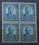 США 1922 г. 5 центов квартблок MNH  12$, фото №2