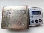 Портсигар срібло,kim Польща 1920-ті.102+грам., фото №3