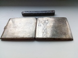 Портсигар срібло,kim Польща 1920-ті.102+грам., фото №5