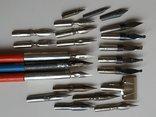 3 перьевые ручки и 20 шт. перьев, фото №5