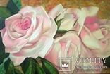 Картина маслом 40х60 Розы, фото №2