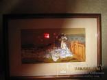 """Птичница"" (эскиз)  1969г.  Г. Петров  Член НСХУ, фото №3"