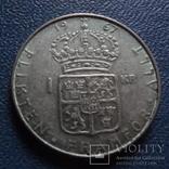 1 крона 1967  Швеция серебро (N.2.5)~, фото №2