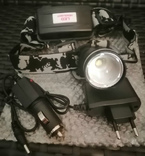 Фонарик электрический аккумуляторный налобный для рыбалки,охоты,отдыха, фото №2