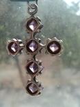 Крестик серебро 925, фото №7