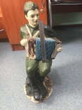 Копилка солдат с гармошкой гипс, фото №8