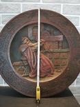 Деревянная тарелка большая, фото №4