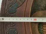 Деревянная тарелка большая, фото №7
