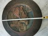 Деревянная тарелка большая, фото №9