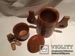 Декоративные деревянная кружка и бочонок., фото №4