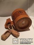 Декоративные деревянная кружка и бочонок., фото №10