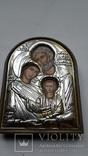 Икона Серебрение С Золотом Иосиф Мария Иисус, фото №2