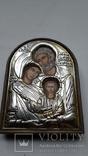 Икона Серебрение С Золотом Иосиф Мария Иисус, фото №8