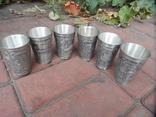 Набор стаканов Города Пищевое олово Клеймо Германия Вес 800 гр, фото №9