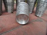 Набор стаканов Города Пищевое олово Клеймо Германия Вес 800 гр, фото №11