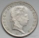 20 крейцеров 1841 г. Австрия, серебро, фото №3