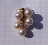Золотой кулон с жемчугом., фото №5