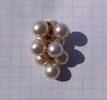 Золотой кулон с жемчугом., фото №6