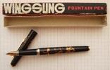 """Новая перьевая ручка """"Wing Sung-227"""". Пишет мягко, тонко и насыщенно., фото №2"""