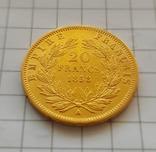 Франция, 20 франков 1858г., золото 6,45г., фото №7