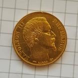 Франция, 20 франков 1858г., золото 6,45г., фото №2