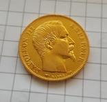 Франция, 20 франков 1858г., золото 6,45г., фото №9