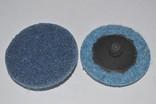 Круг скотч-брайт Roloc 50 мм P180 синий, фото №2
