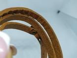 Длинный кожаный браслет в три оборота (3), фото №9