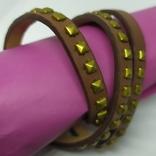 Длинный кожаный браслет в три оборота (3), фото №6