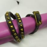 Длинный кожаный браслет в три оборота (3), фото №4