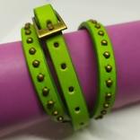 Длинный кожаный браслет в три оборота (3), фото №2