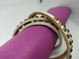 Длинный кожаный браслет в три оборота (3), фото №5