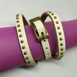 Длинный кожаный браслет в три оборота (3), фото №3