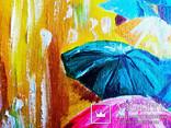 Картина маслом 20х30 Зонтики, фото №3