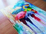 Картина маслом 20х30 Зонтики, фото №4