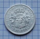 Испания, 2 песеты 1879 г., фото №4