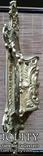 Настінний тримач щітки, бронза, Н37,5 см, фото №5