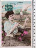 Старинная открытка. 1909 год. Романтика.(3), фото №2