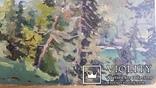 """Л.Харламов """"Оз. Рица"""", 1958р., 25х34 см, фото №4"""