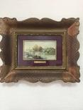 """Парные картины """"Пейзаж"""", руч. живопись на фарфоре одного худ., подписн., нач. 20 века., фото №3"""